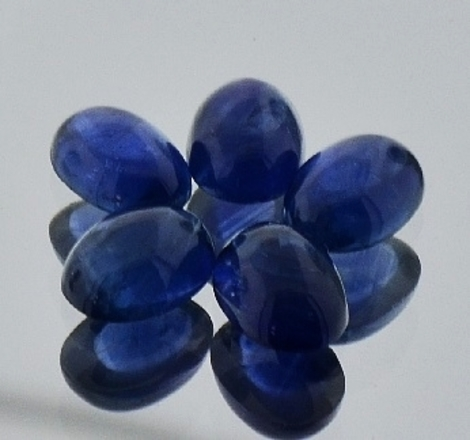 Sapphire Lot Cabo oval blue ca. 6.0 ct
