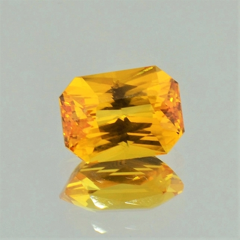 Saphir, Achteck-Princess facettiert (4,00 ct.) aus Sri Lanka