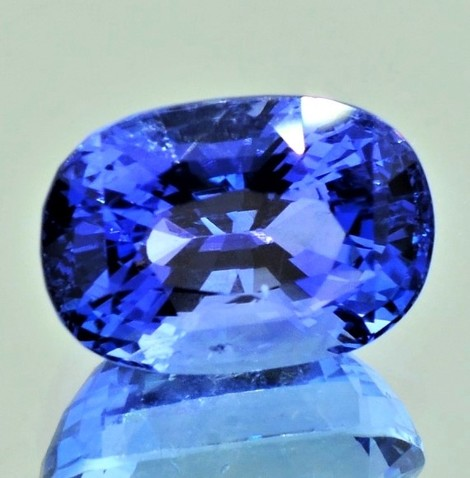 Sapphire oval blue unheated 9.09 ct