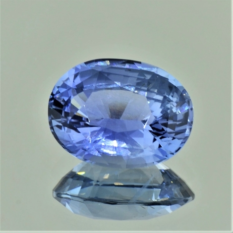 Saphir, Oval facettiert (8,57 ct.) aus Sri Lanka