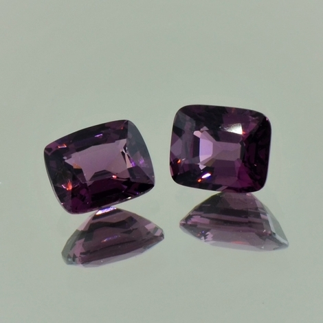 Spinell Duo antik dunkelpurpur 3,0 ct