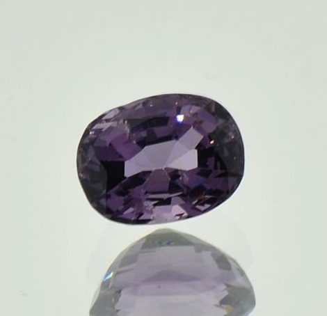 Spinell oval grauviolett 1,68 ct