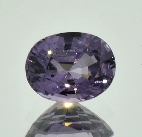 Spinel oval greyish purple 3.08 ct