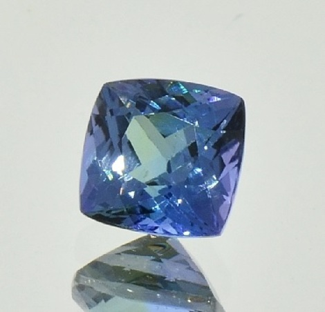 Tanzanite square cushion unheated 3.03 ct