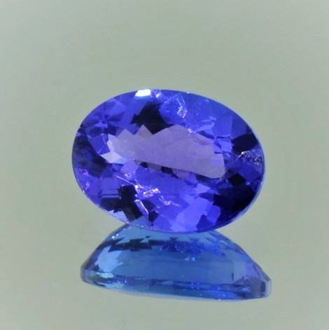 Tanzanite oval blau-lila 3.06 ct