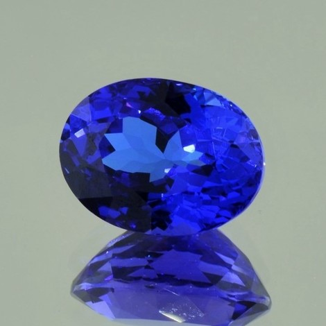 Tanzanite oval intense blue 11.26 ct