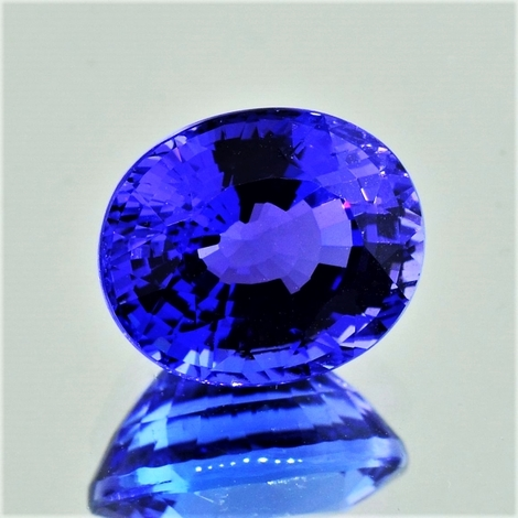 Tanzanite oval intense blue 8.20 ct