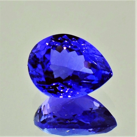 Tanzanite pear 3.91 ct