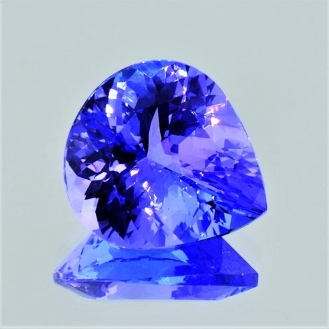 Tanzanite pear lila-blau 14.77 ct