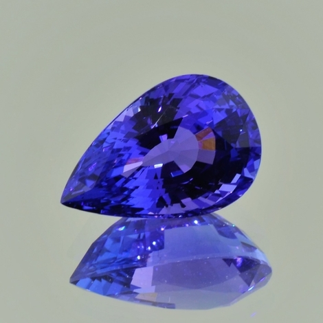 Tanzanite pear violettblau 8.53 ct