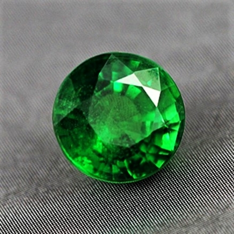 Tsavorite round intensives gruen 2.53 ct.
