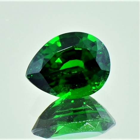 Tsavorite pear dark green 2.49 ct