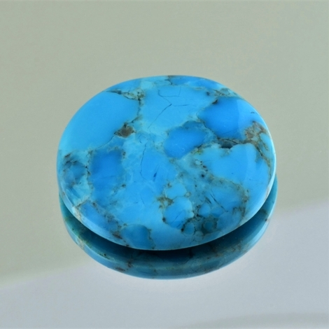 Turquoise cabochon round 27.35 ct