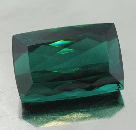 Tourmaline cushion bluish green 19.94 ct