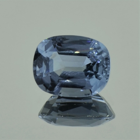 Tourmaline cushion greyish blue 5.99 ct