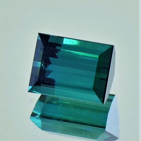 Tourmaline Baguette intensives-blaugrün 7.26 ct