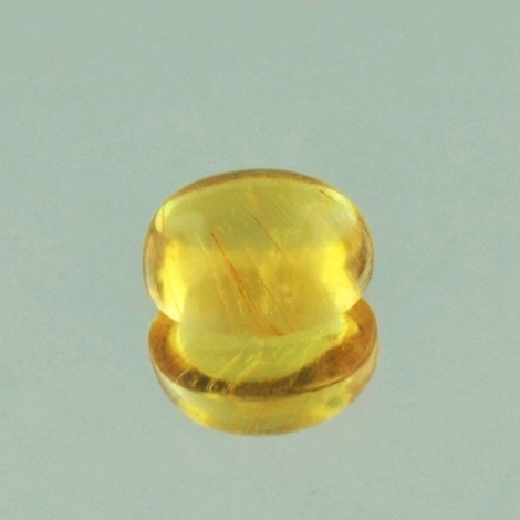 Tourmaline Cabochon oval yellow 3.59 ct