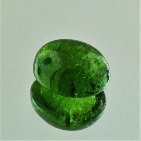Tourmaline Cabochon oval green 5.44 ct