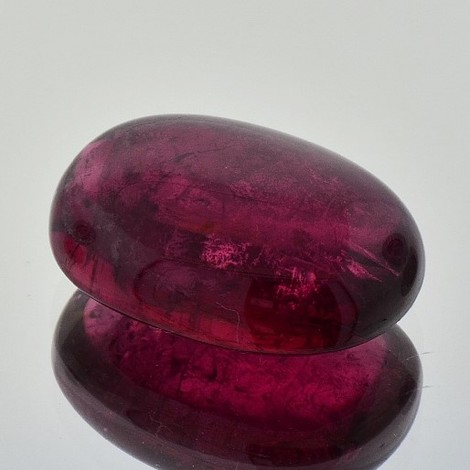 Turmalin Cabochon oval purpurrot 38,06 ct
