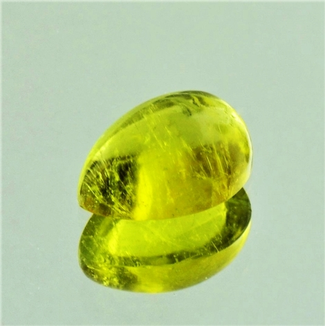 Tourmaline Cabochon pear yellow 2.67 ct