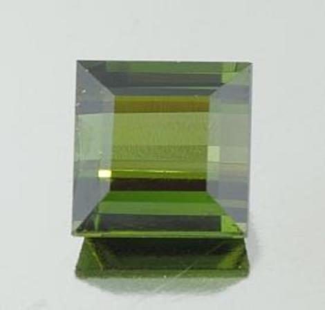 Green Tourmaline square 4.22 ct