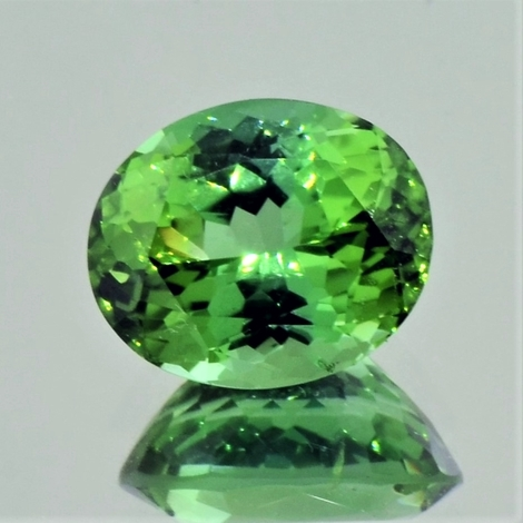Green Tourmaline Tourmaline oval green 7.19 ct