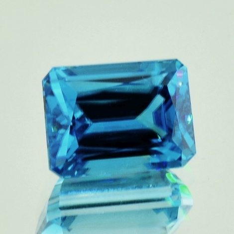 Zircon octagon blue 13.54 ct