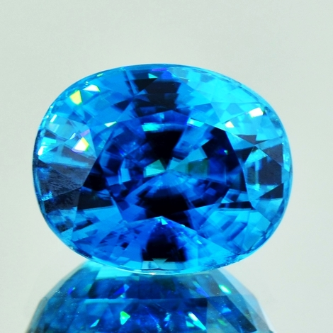 Zirkon oval blau 19,81 ct