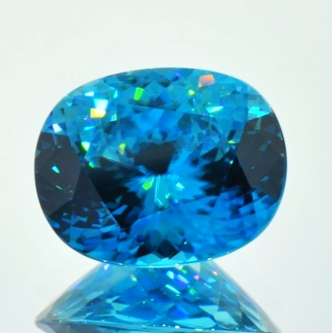 Zirkon oval blau 19,94 ct