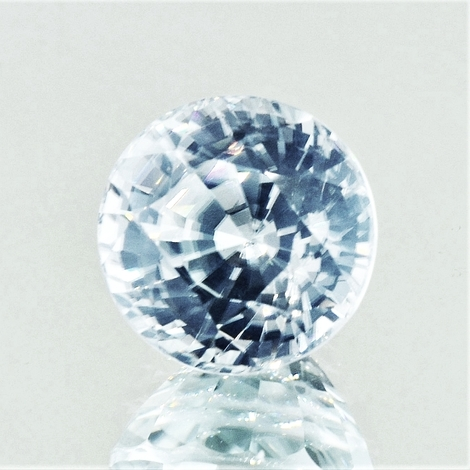 Zircon round colorless 14.61 ct