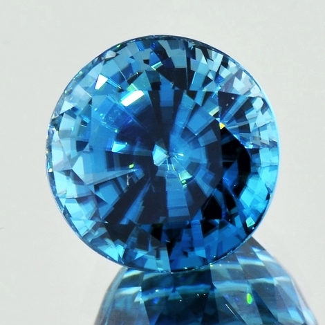 Zircon round intensives-Blau 20.97 ct